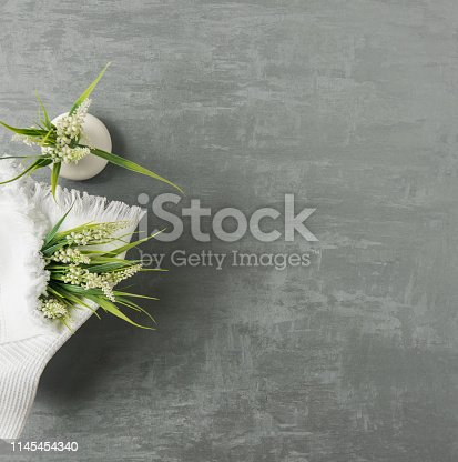 1164403347 istock photo a towel on gray background 1145454340
