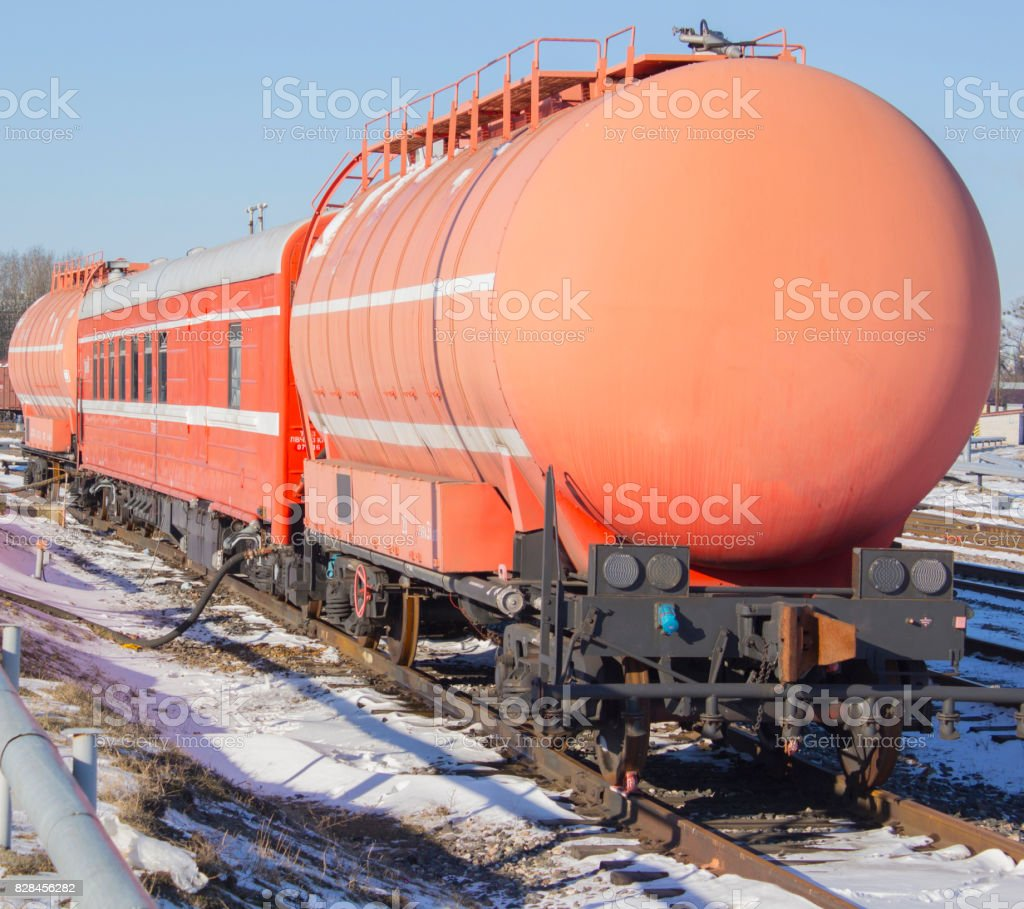 a train is designed to extinguish fires on the railroad stock photo