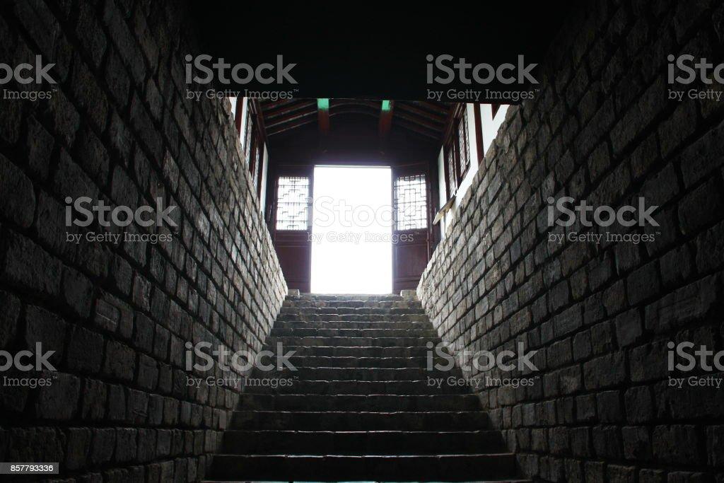 a Tunnel of Nanjing Old City Wall . Nanjing, China. 16th, April, 2009 stock photo