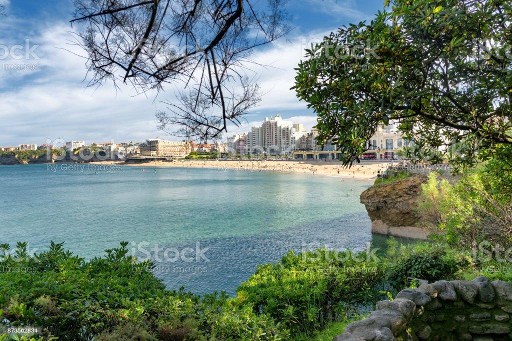 une vue de la plage de Biarritz en France - Photo