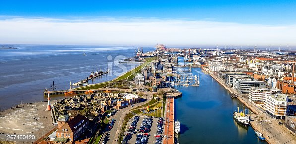 istock a view of the port in Bremerhaven 1267460420