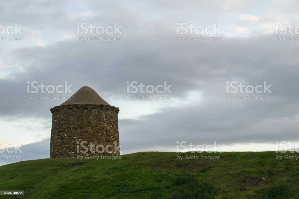 a warning beacon tower on the top of Burton Dassett hills country park stock photo