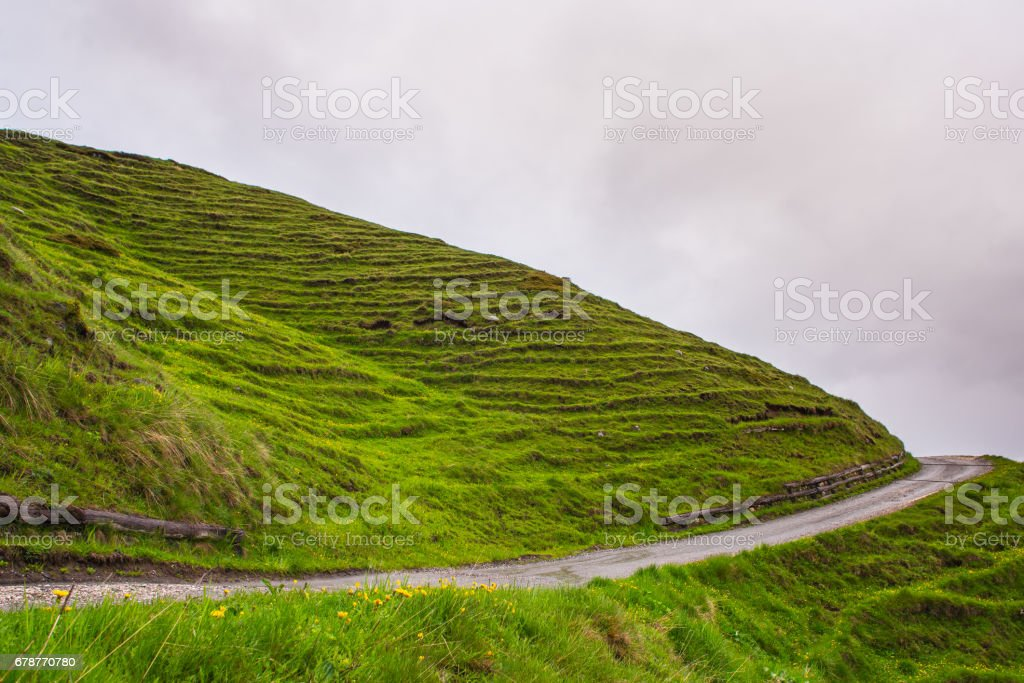 a wavy grass hill horizont photo libre de droits