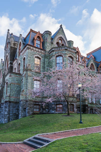 Philadelphia, United States - April 6, 2017: a weekday scene at the University of Pennsylvania campus stock photo