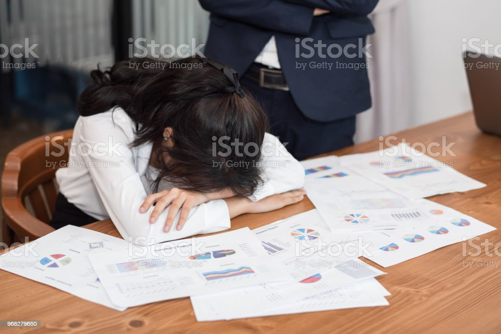 a woman in feeling exhausted and depressed from frustrated. anxiety...