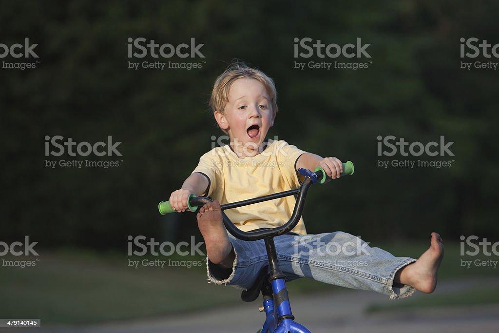 AAAAAH....Hold On Tight....Bike Ride stock photo