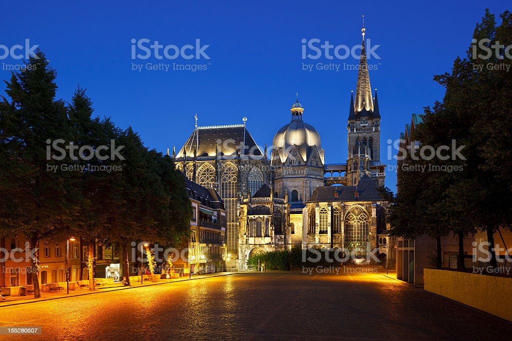Aachen Cathedral At Night - Royalty-free Aachen Stock Photo