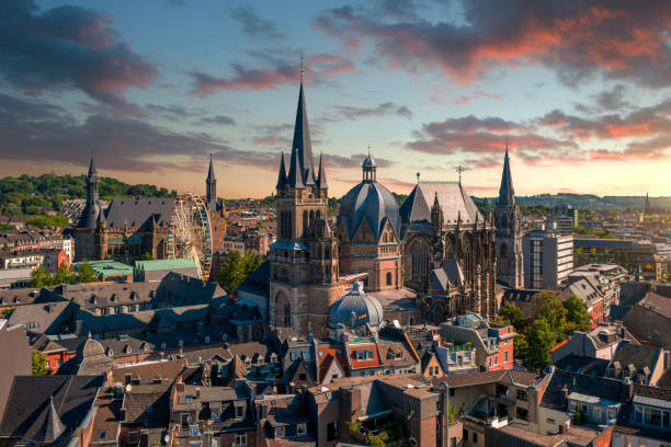 Aachen Cathedral, Germany - foto stock