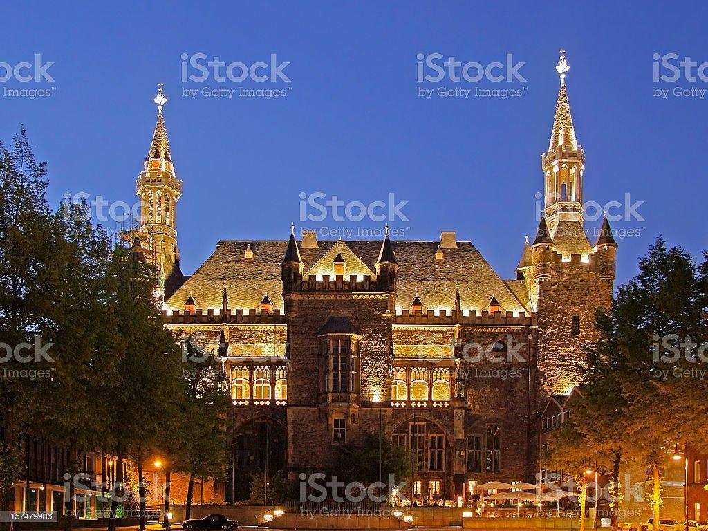Aachen City Hall (Rathaus) royalty-free stock photo