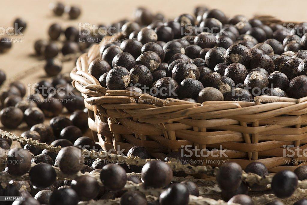 Açai berry fruit stock photo