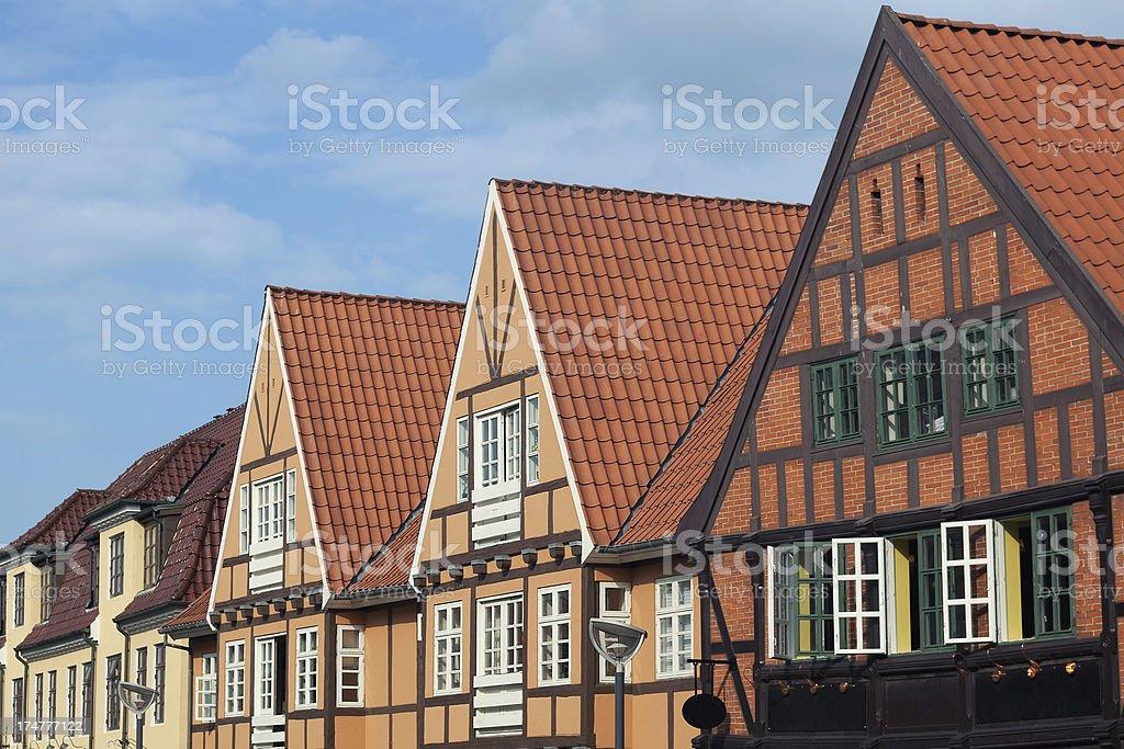 Aalborg city stock photo