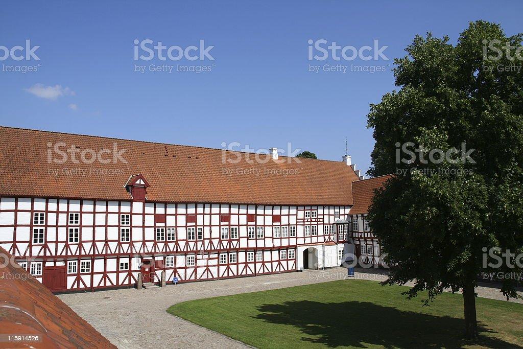 Aalborghus castle in Aalborg, Denmark stock photo