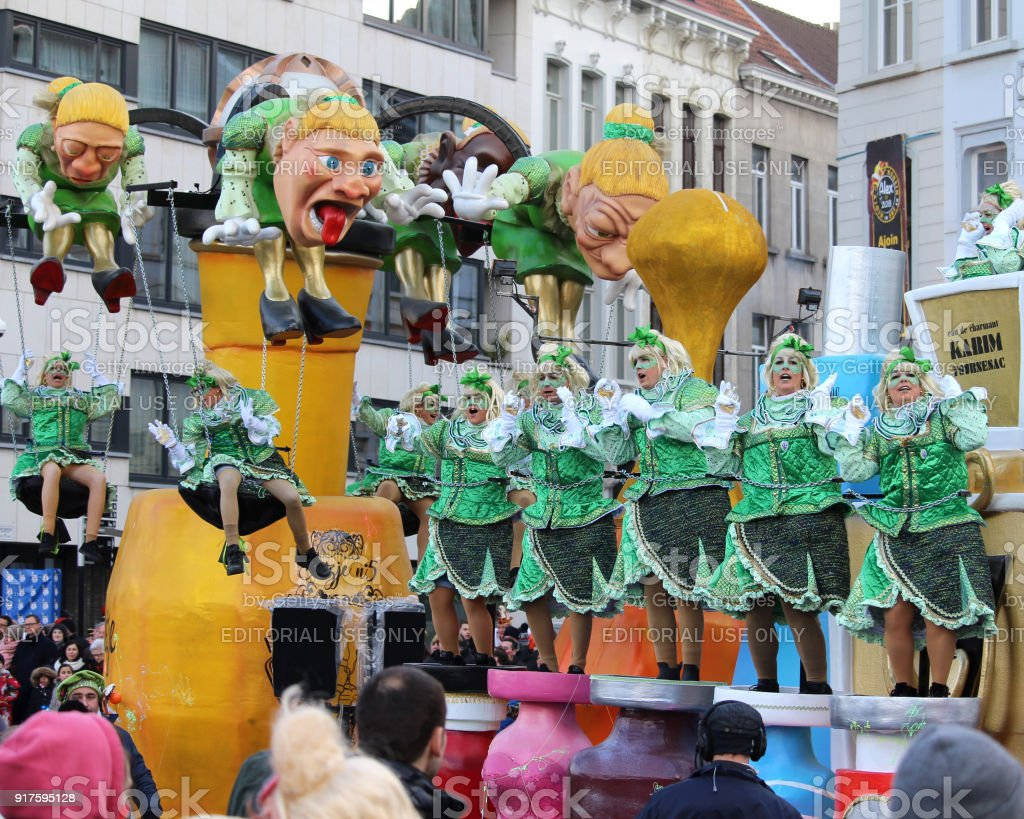 Aalst Carnival Parade stock photo