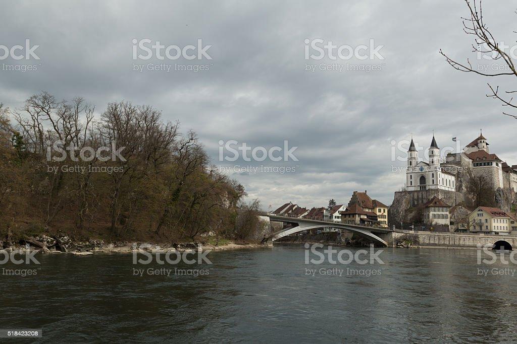 Aarburg Castle in Switzerland stock photo
