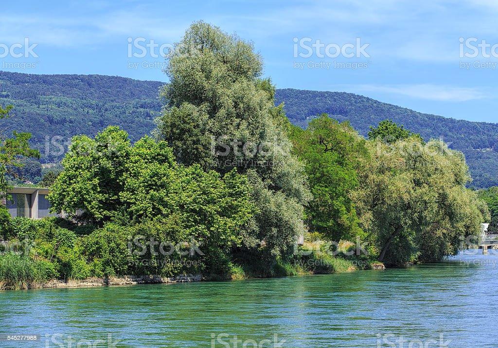 Aare river in Switzerland stock photo