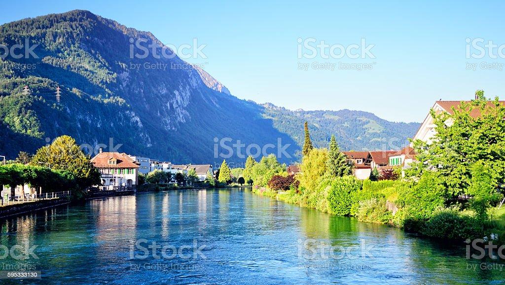 Aare river, Switzerland stock photo