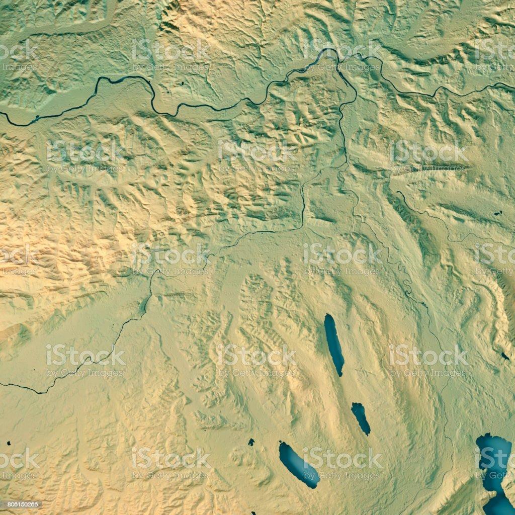 Aargau Canton Switzerland 3d Render Topographic Map Stock Photo