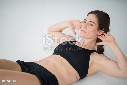 istock Ab Crunches at the Gym 541564110