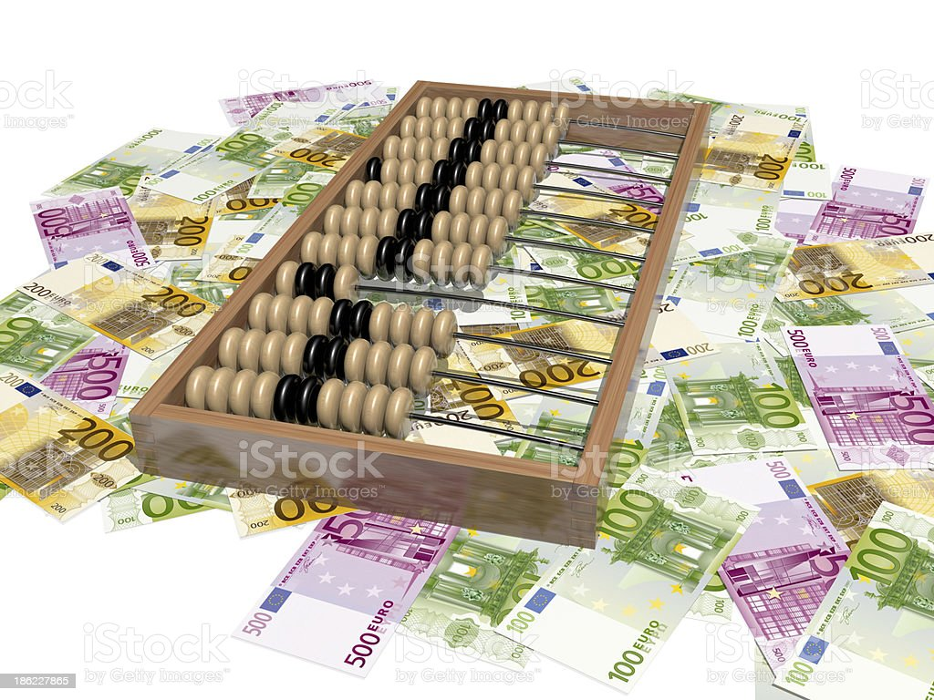 abacus and money royalty-free stock photo