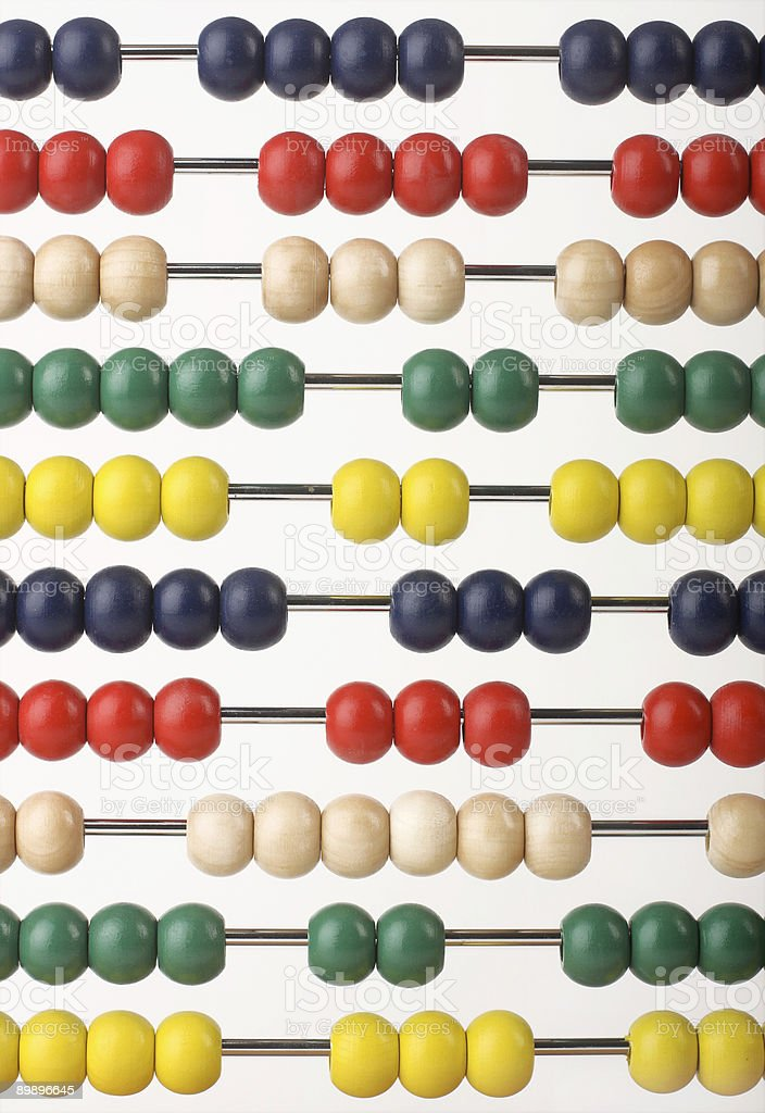 Abacus beads royalty-free stock photo
