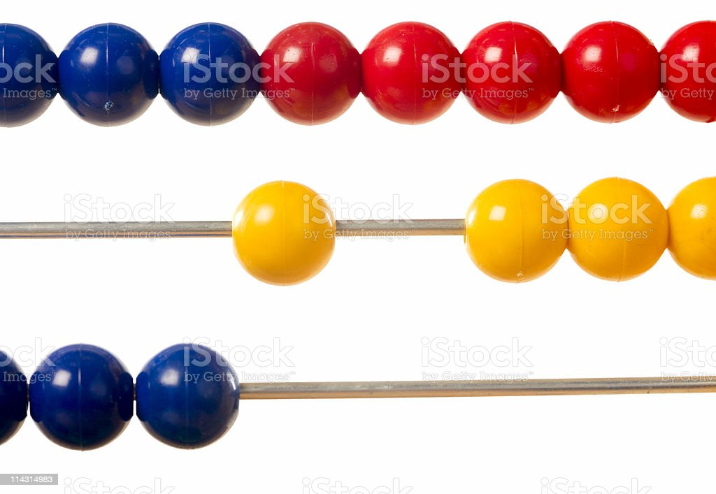 Abacus detail royalty-free stock photo