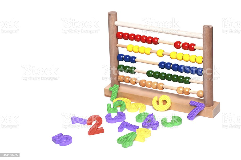Abacus for Counting and numbers royalty-free stock photo