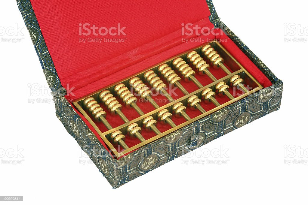 Abacus in giftbox  (XL) royalty-free stock photo