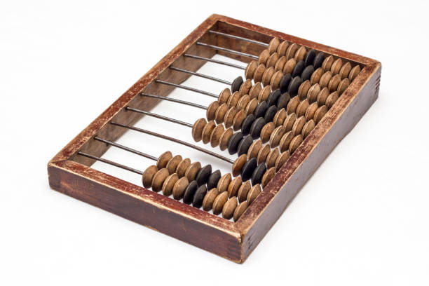 Abacus isolated on a white - foto stock