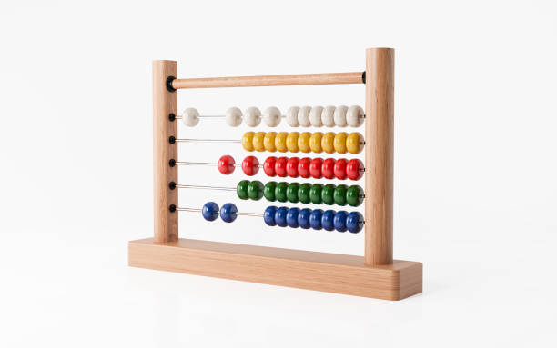 Abacus Isolated on White Background - foto stock