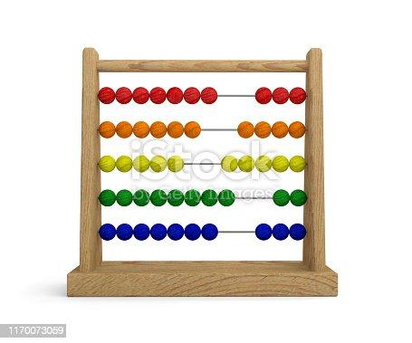 abacus mathematics math school background 3D