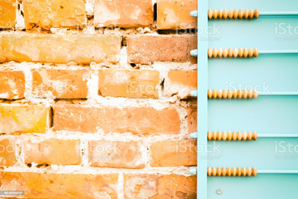 Abacus on wall foto stock royalty-free