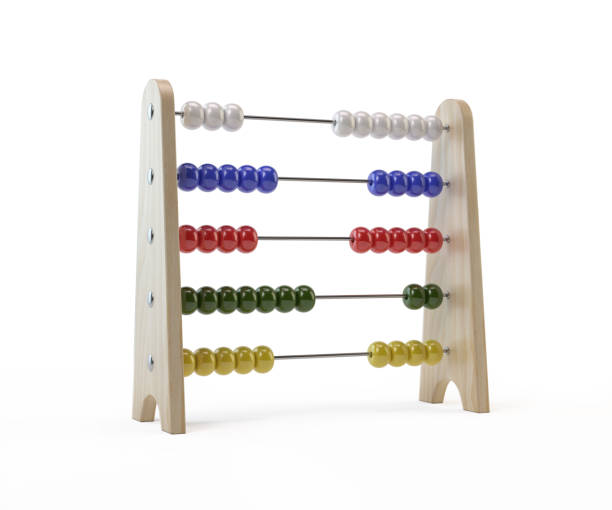 Abacus ON White Background - foto stock