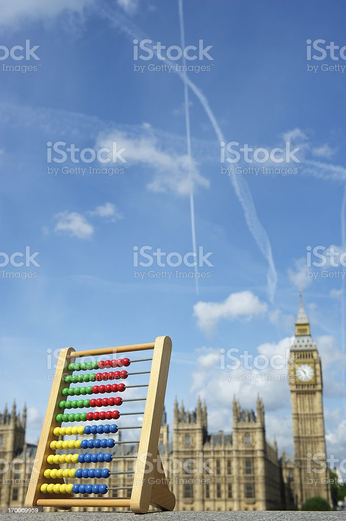 Abacus Stands London Skyline Westminster Palace stock photo