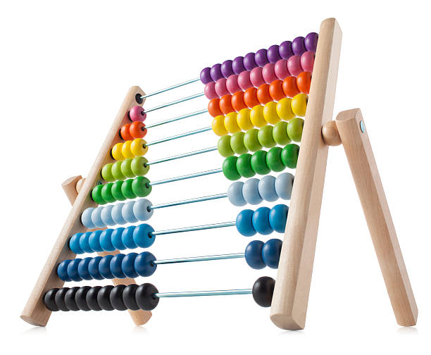 abacus with colored beads - abakus bildbanksfoton och bilder