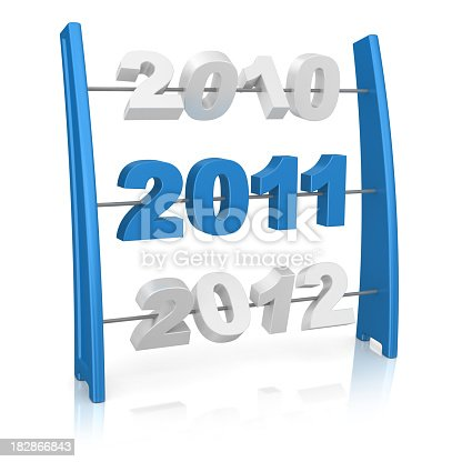 istock Abacus - Year 2011 182866843