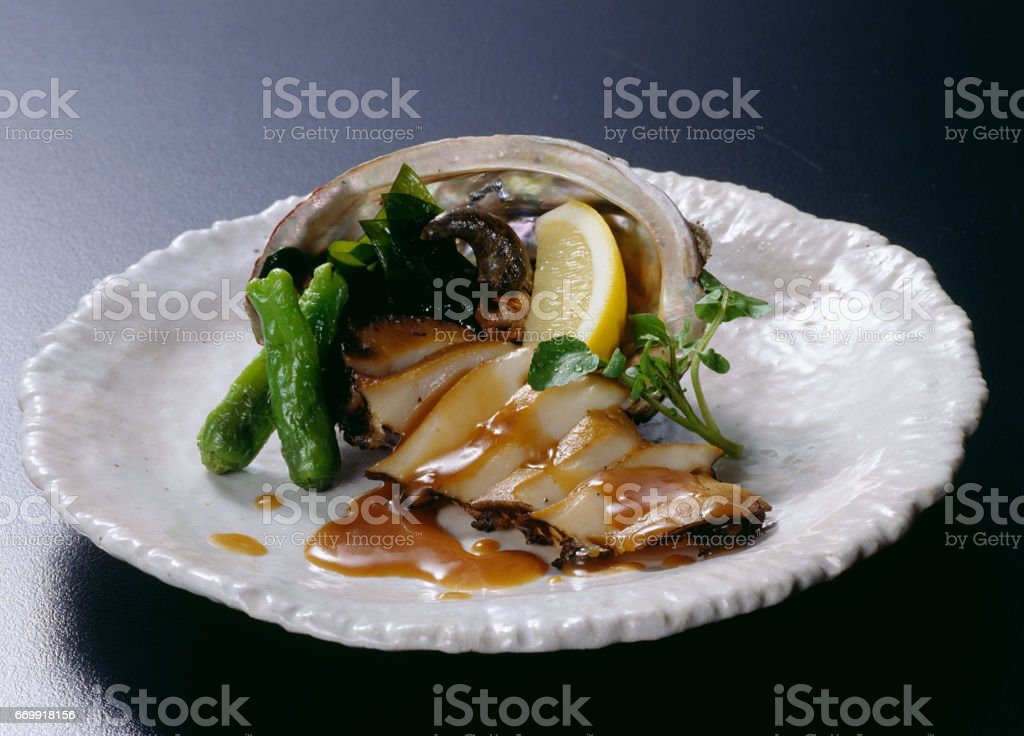 Abalone steak stock photo