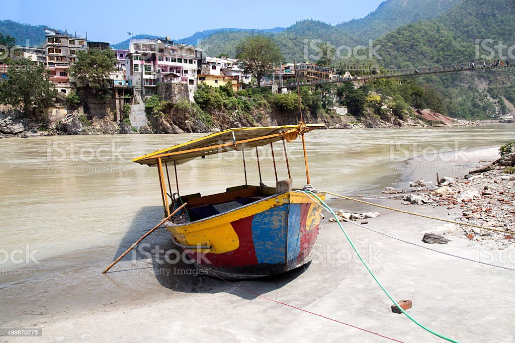 Abanded Boat on beach stock photo