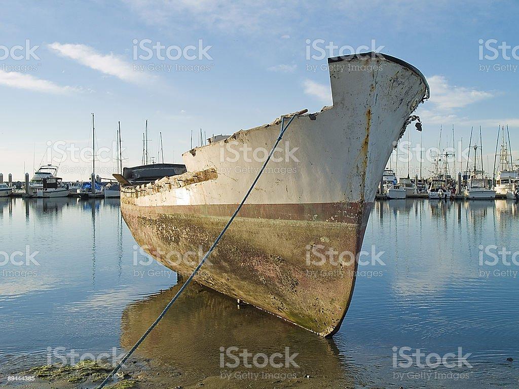 abanded bateau photo libre de droits
