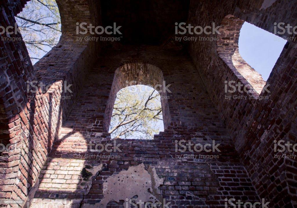verlaten kerk in Georgië - Royalty-free Architectuur Stockfoto