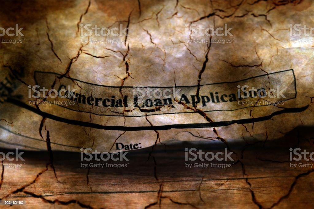 Abandon loan application grunge concept stock photo