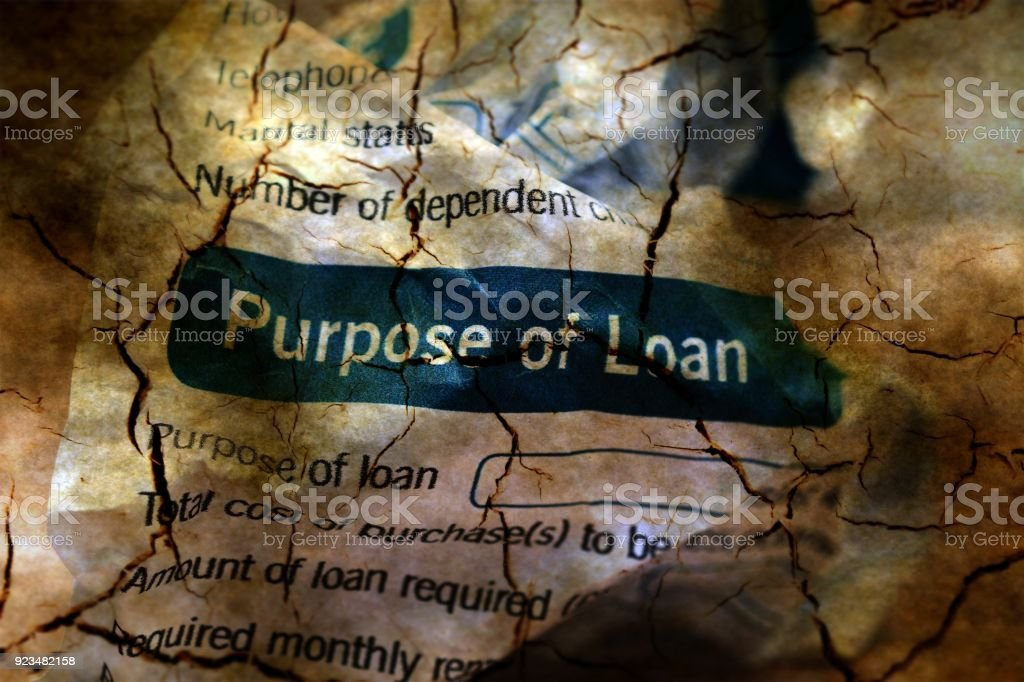 Abandon loan form grunge concept stock photo