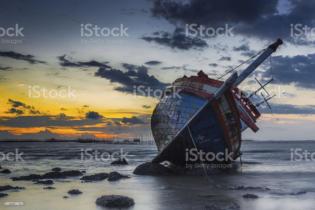 Abandon Ship stock photo
