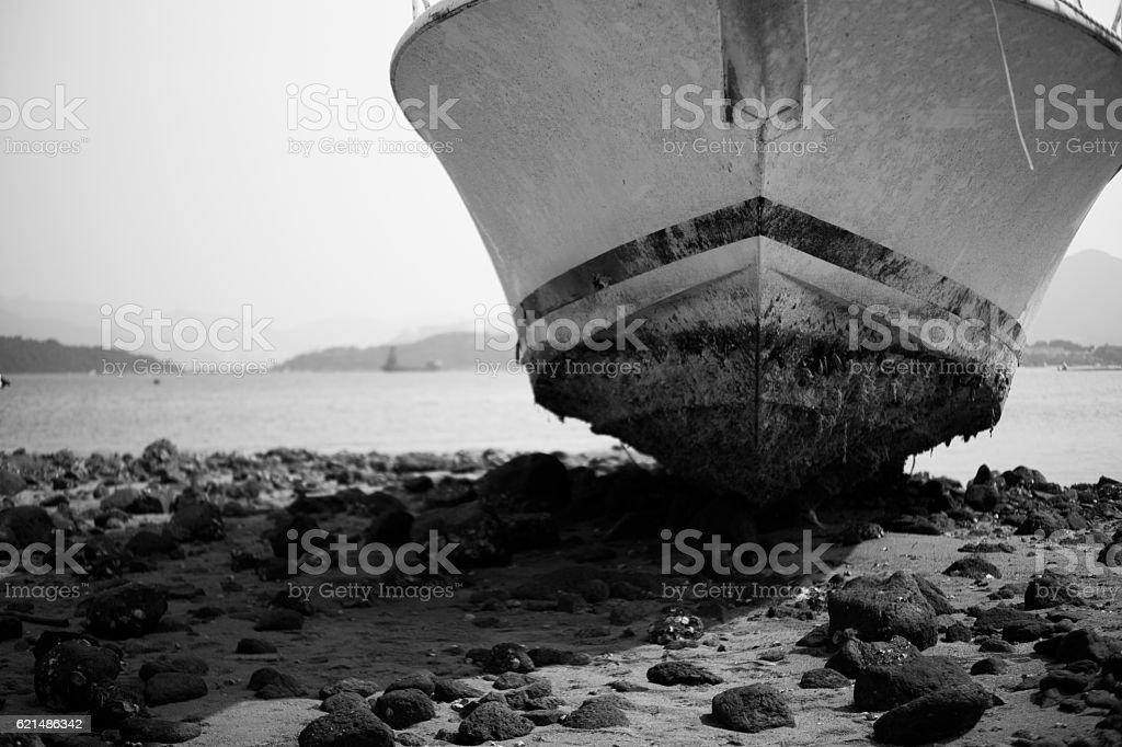 Abandonner bateau photo libre de droits