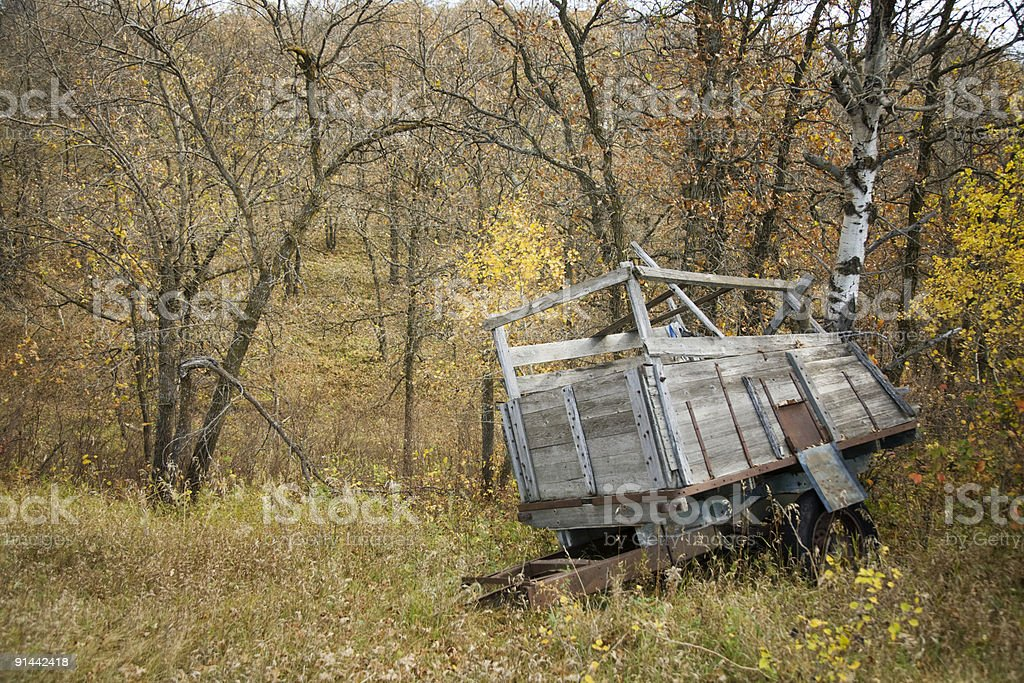 Abandon Wagon stock photo