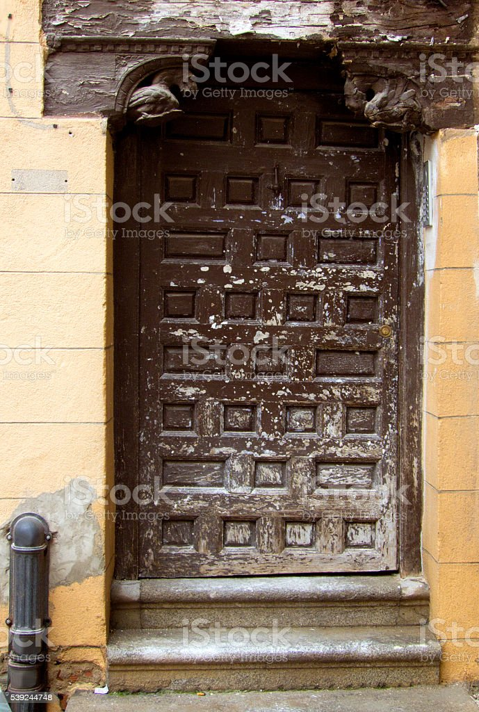 Abandonated brown door royalty-free stock photo