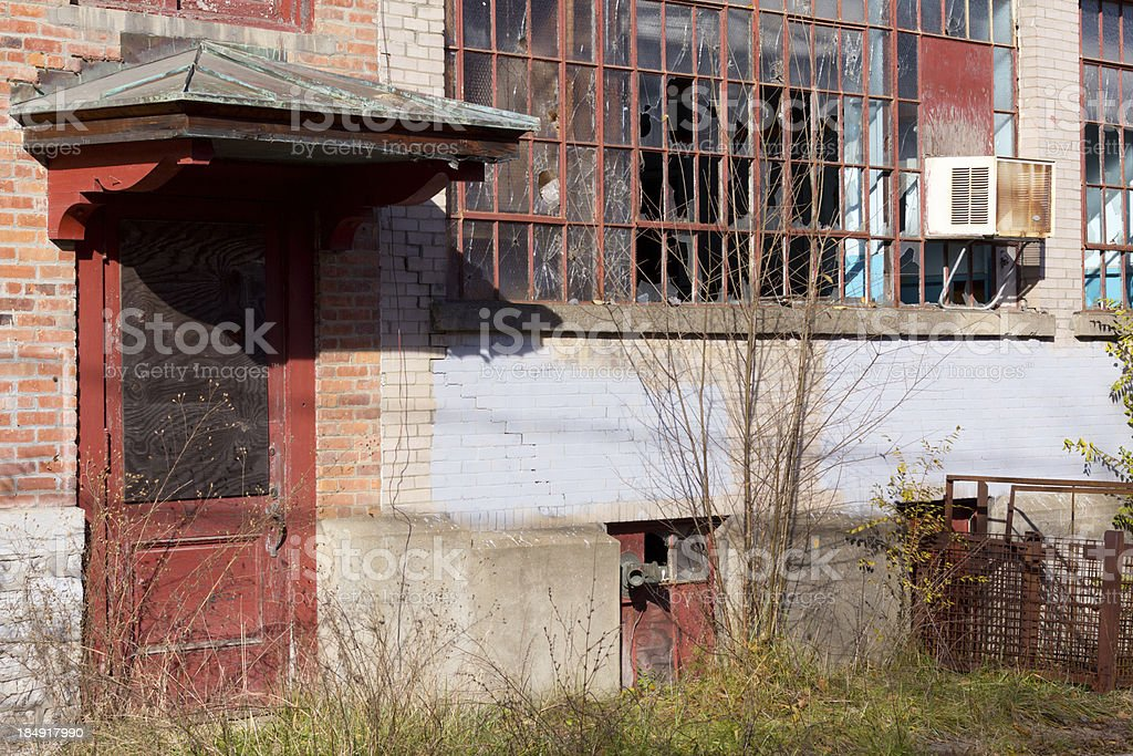 Abandonded Factory Building stock photo