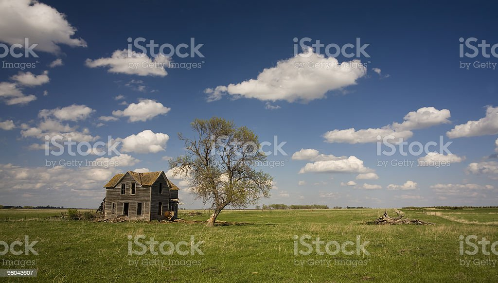 Abandonded Farm House in South Dakota royalty-free stock photo
