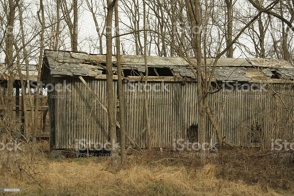 Abandonded out-building royalty-free stock photo