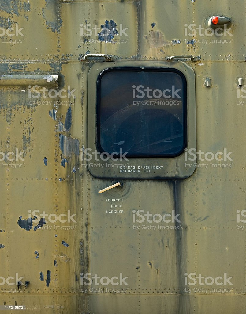 Abandoned Aircraft (Details) royalty-free stock photo