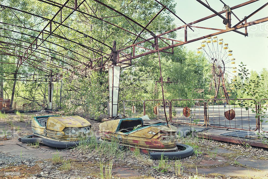 Abandoned Amusement Park of Pripyat, Ukraine stock photo